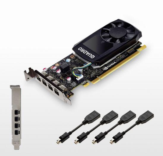 Quadro P600, 368 Pascal CUDA cores, 2GB GDDR5