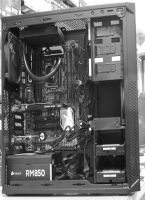 A classic workstation, intel Core i7-5960X CPU, Quadro K2200 graphics, a couple of SSDs, 32GB RAM ......