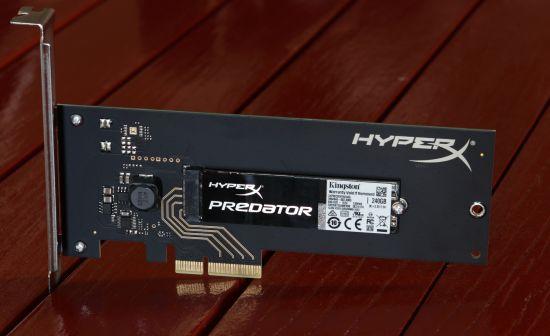 HyperX Predator PCIe 2.0 x4 M.2  240GB SSD HHHL